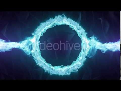 Blue Crystal Logo Circle Motion Graphics