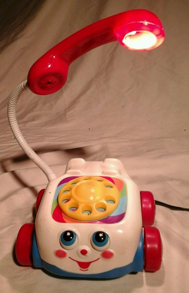 Vintage Fisher Price Rotery Phone Table Lamp Retro Toy Story Great For A  Kids Room With