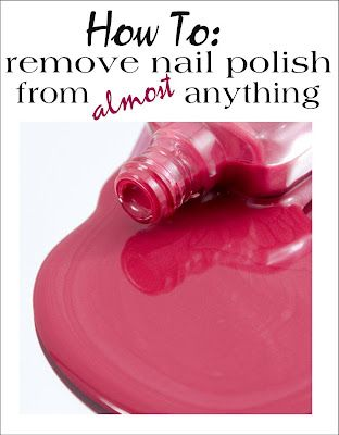 Have you ever spilled fingernail polish on clothing, wood or carpet? Tips for getting it out are here