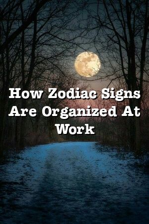 How Zodiac Signs Are Organized At Work