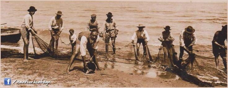 """Pesca con la """"Tratta"""" sulla spiaggia di Cattolica"""