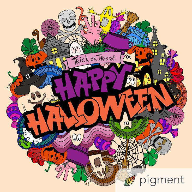 Pin by Lisa Ahlers-Landstrom on Coloring book... (With images) | Coloring  books, Comic book cover, Trick or treat