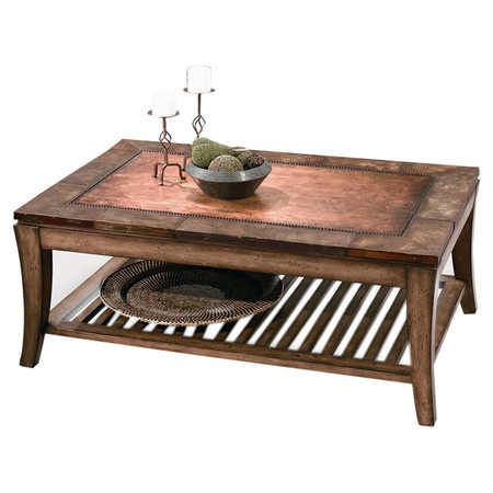 I pinned this Sun Valley Coffee Table from the Bassett