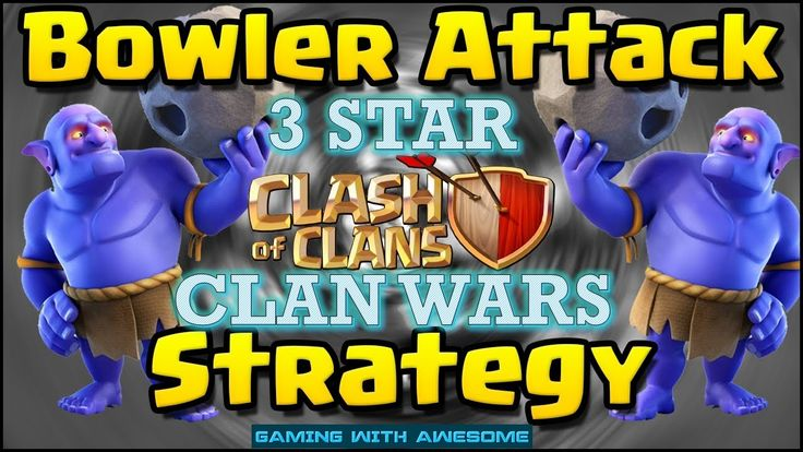 Clash of Clans - MASS BOWLER 3 Star Attack Strategy for CLAN WARS | TH10...