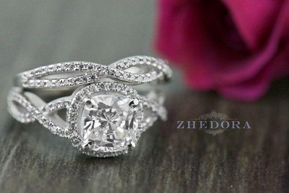 3.5 bande de mariage bague de fiançailles en coupe CT par Zhedora