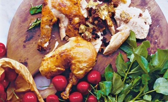 Cherry and goat's cheese-stuffed chicken » Diana Henry