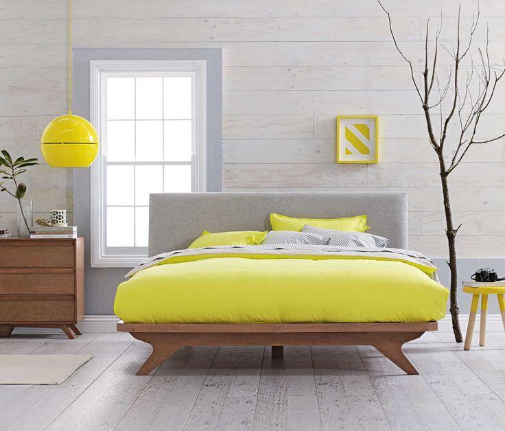 Yellow! Aura 'Maison' Quilt and Pendant Light
