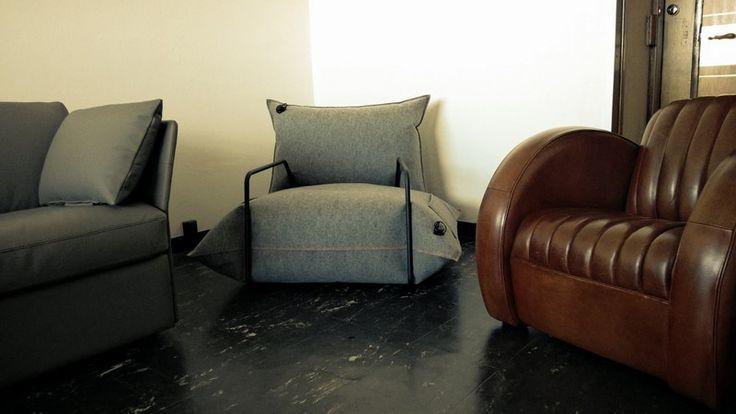 Fauteuil Gonflable en feutre...très doux ! est une création orginale de Jazzclub-leather-cuir-leder sur DaWanda
