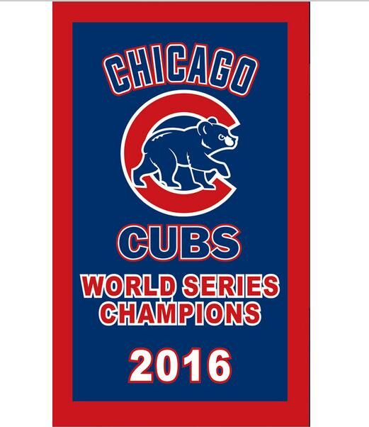 2016 World Series Championship Chicago Cubs flag 3ftx5ft