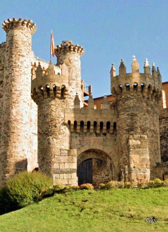 Castillo de los Templarios, Ponferrada, León, España