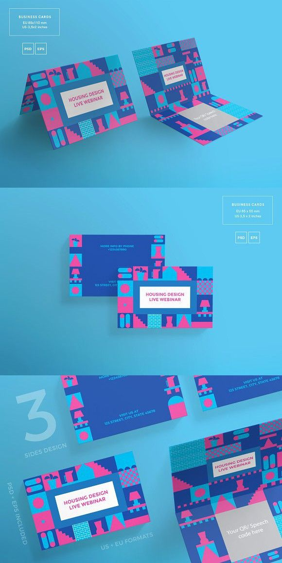 Business Cards Housing Design Business Card Templates in 2018