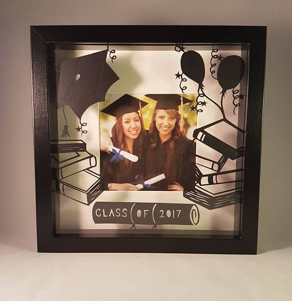 This hand drawn and handcut papercutting would be a fantastic gift for a graduating student. It has a papercut design in the front and a space for your own photo behind. In a deep box frame 25cm x 25 cm (black or white).  The design pictured can be personalised with the students name in the scroll. Simply let me know when you order or drop me a line if you have any questions. I can cut it with whatever name and date you wish and it whatever colours you would like! Give something completely…