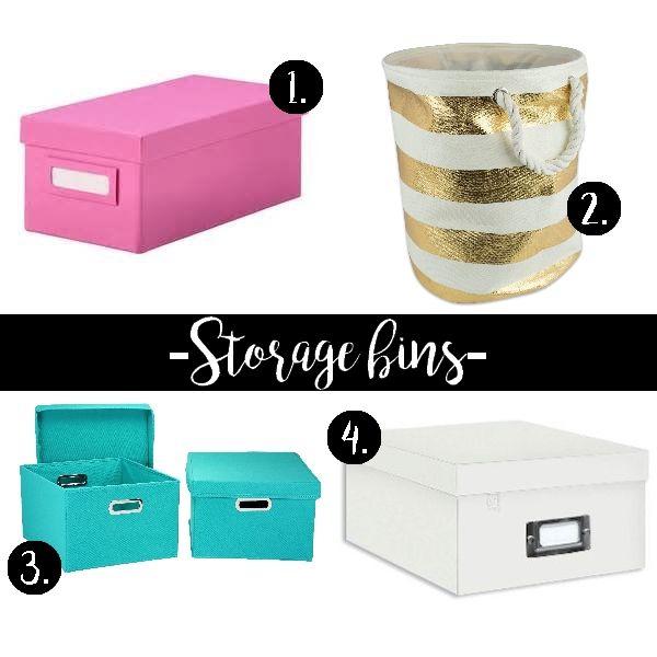 Chic storage bins for your workspace! #chic #feminine #workspace #homeoffice