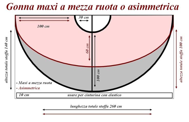 Schema: Gonna maxi a mezza-ruota o asimmetrica - denisealicestyle.blogspot.it