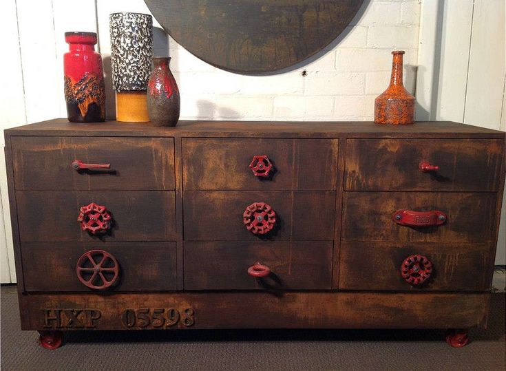 Retro sideboard, upcycled furniture by Fox & Dinky, Bendigo- this really has a man cave feel to it, but it is funky and I like it.