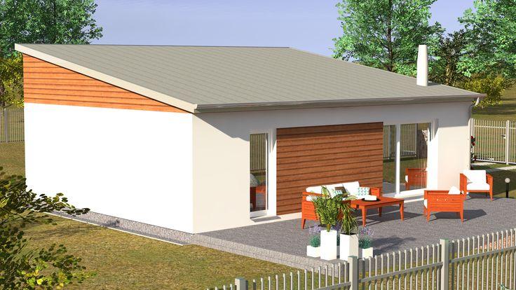 Přízemní dům G2 74 s dispozičním řešením 3+kk je skvělou volbou nejen pro menší rodiny. V dobře koncipovaném domě Vás nadchne prostorný obývací pokoj, který je propojen s kuchyní a jídelnou, dále dům nabízí další dva pokoje. Tento dům můžete získat již od 4576,- Kč měsíčně :)
