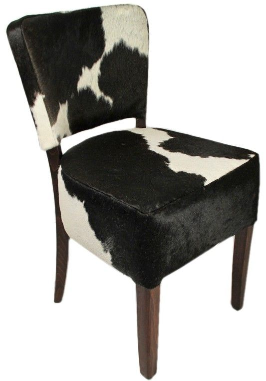 Bistro stoel met koeienhuid stoffering