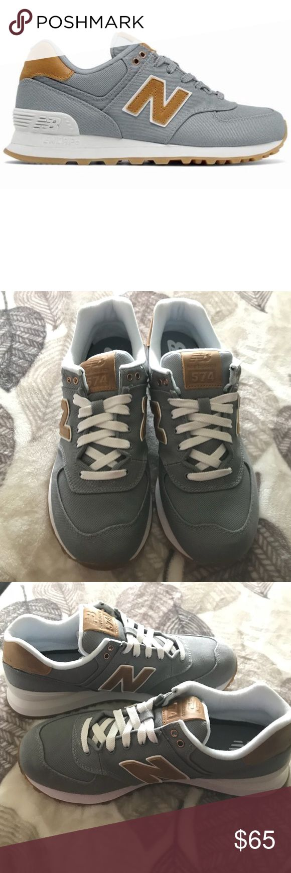 Women's New Balance 574 Grey New with box. Canvas upper. Leather details. New Balance Shoes Sneakers
