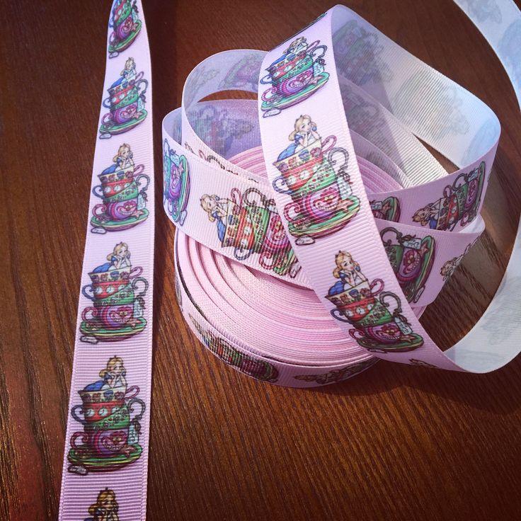 Alice in Wonderland ribbon - 26mm 😍. Love this! #ribbon #sewing #handmade #crafts 🎀