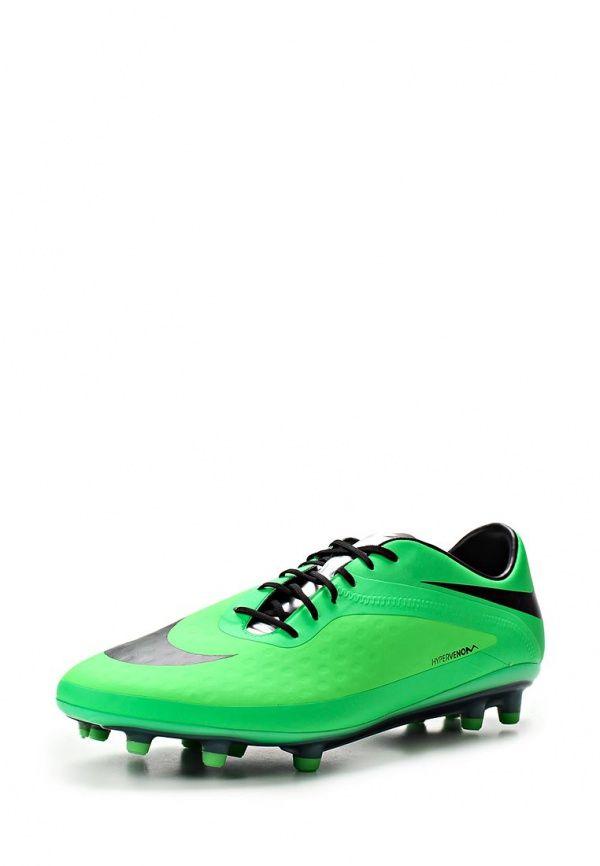 Бутсы Nike / Найк Цвет: зеленый. Материал: искусственная кожа. Сезон: Весна-лето 2014. С бесплатной доставкой и примеркой на Lamoda. http://j.mp/WNrETU