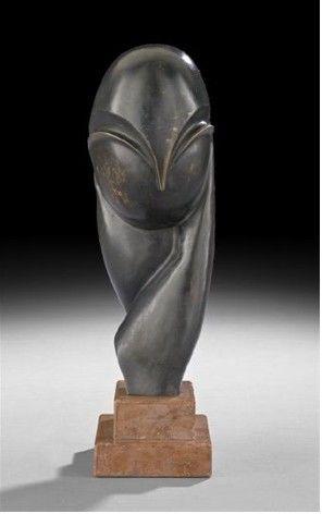 Constantin Brancusi, Mademoiselle Pogany III, bronze.