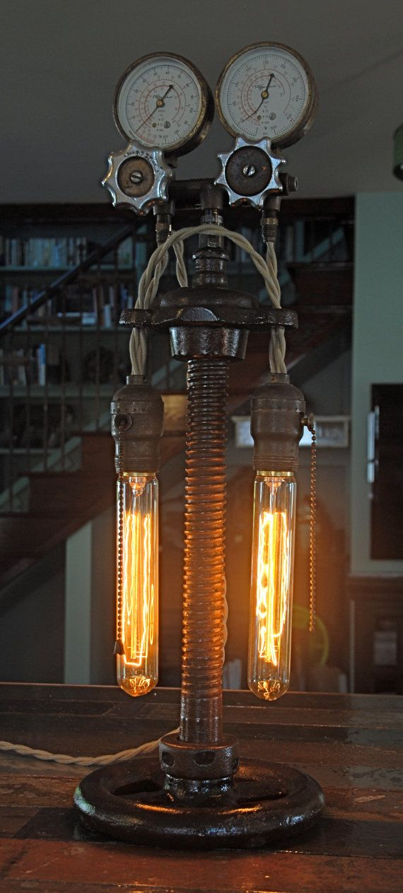 Vintage Industrial Steampunk Lamp