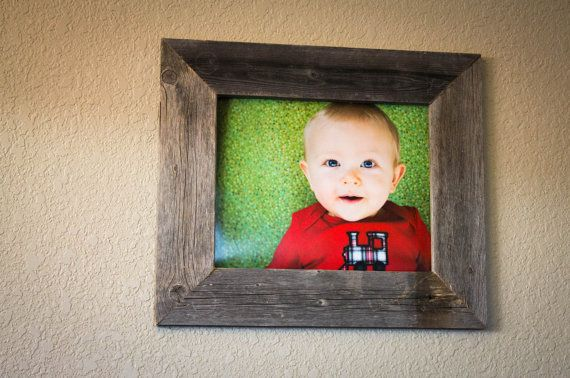 11 X 14 Barnwood Picture Frame 100 Reclaimed by DrakestoneDesigns