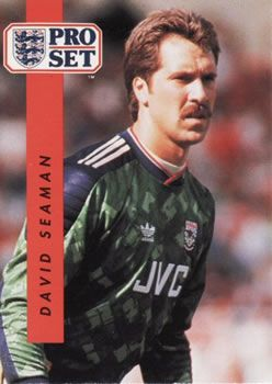 1990-91 Pro Set English League #1 David Seaman Front