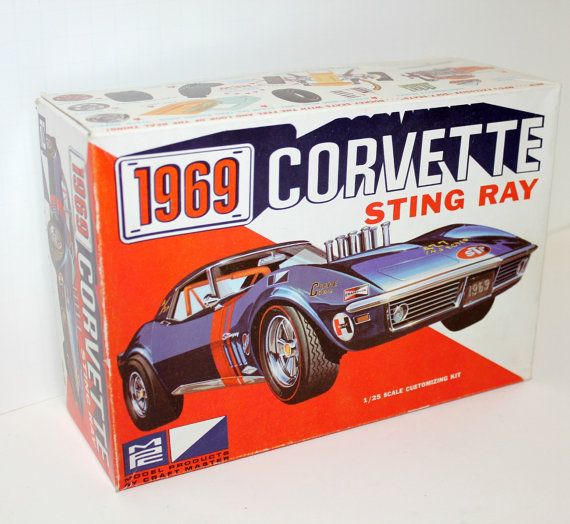 1969 Corvette Sting Ray MPC Model Car Vintage Kit by That70sShoppe, $56.00
