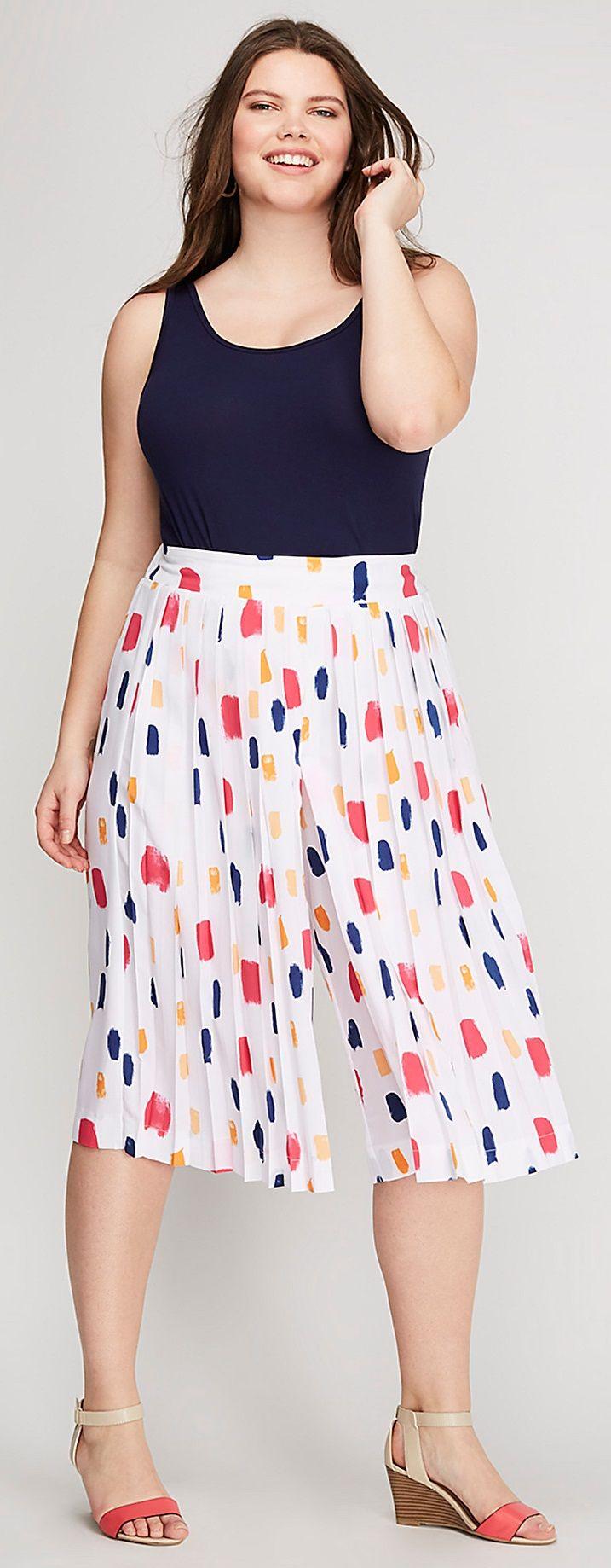 Plus Size Culottes