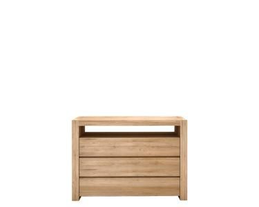 Ethnicraft© - Products » Sideboards »Oak Double chest of drawers - 3 drawers *