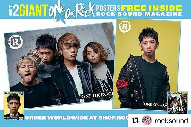 #Repost @rocksound with @repostapp ・・・ One OK Rock. GIANT posters.⠀ Available to pre-order worldwide at smarturl.it/RS223 イギリスの音楽専門誌Rock Soundsより2017年3月号にONE OK ROCKが表紙で登場!!! .  表紙は2バージョン。アスマート、アマゾンからも購入可能!!!それぞれ特大ポスター付き! (輸入品の為中身は全て英語になります)