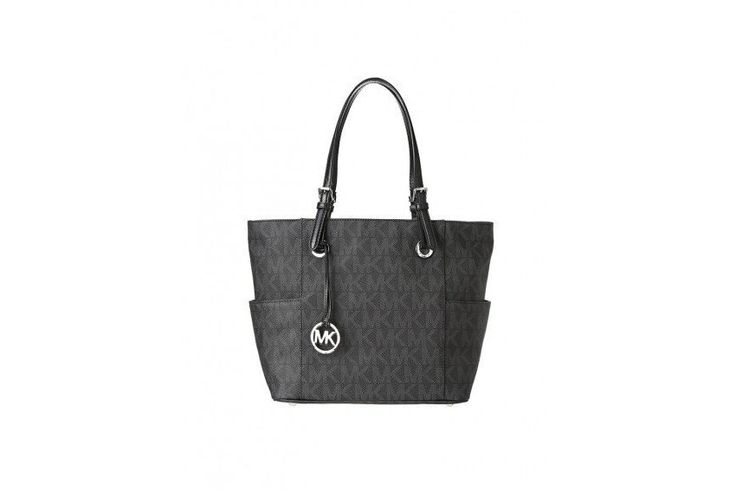 Michael Kors Jet Set Item East West Signature Tote-Black