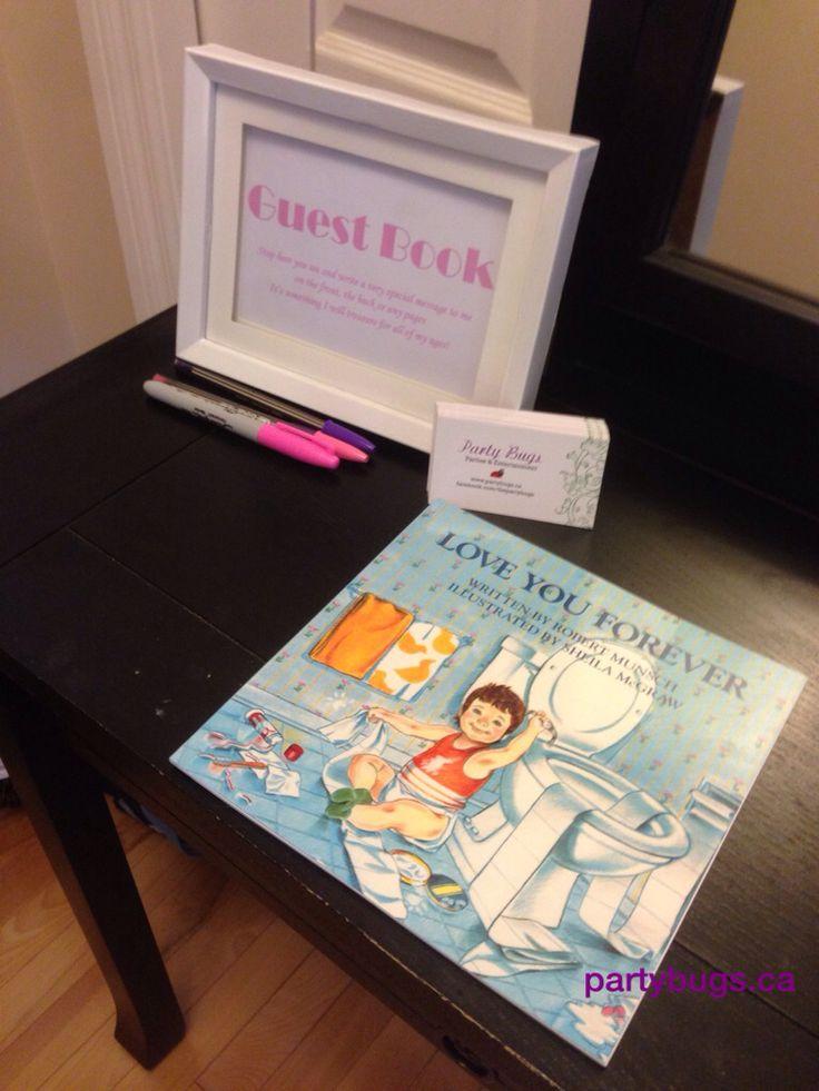 Guest book idea girl baby shower