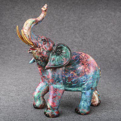 Bloomsbury Market Morro Colorful Graffiti Elephant Figurine