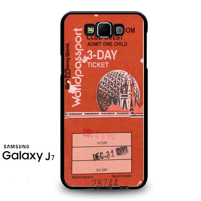 Magic Kingdom Epcot Center Ticket Samsung Galaxy J7 Prime Case