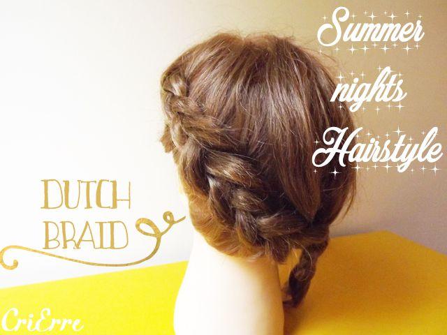 Cri Erre handmade: Treccia olandese - Dutch braid tutorial - Hairstyle #dutchbraid #braid #hairstyle