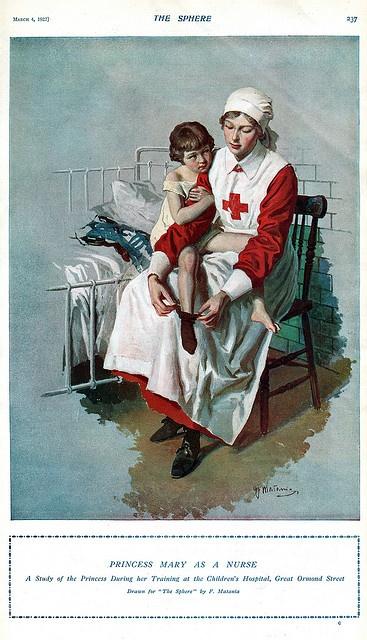 Princess Mary as a Nurse, 1922. Great Ormand Street
