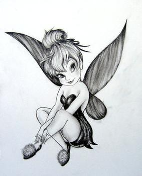 Tinkerbell Tattoo Desing - So that I can springle fairy dust everywhere!