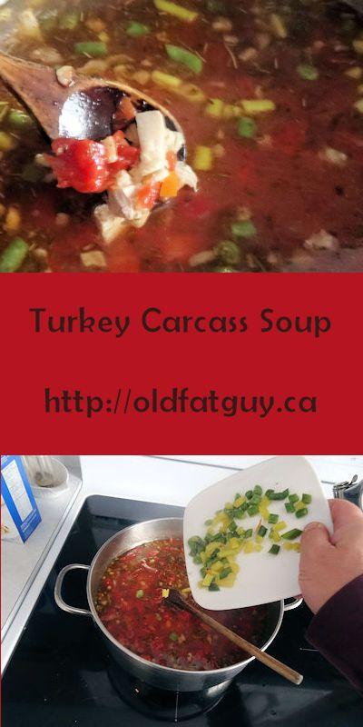 Turkey Carcass Soup #soup #turkey #TurkeyLeftovers #turkeysoup #turkeysouprecipe