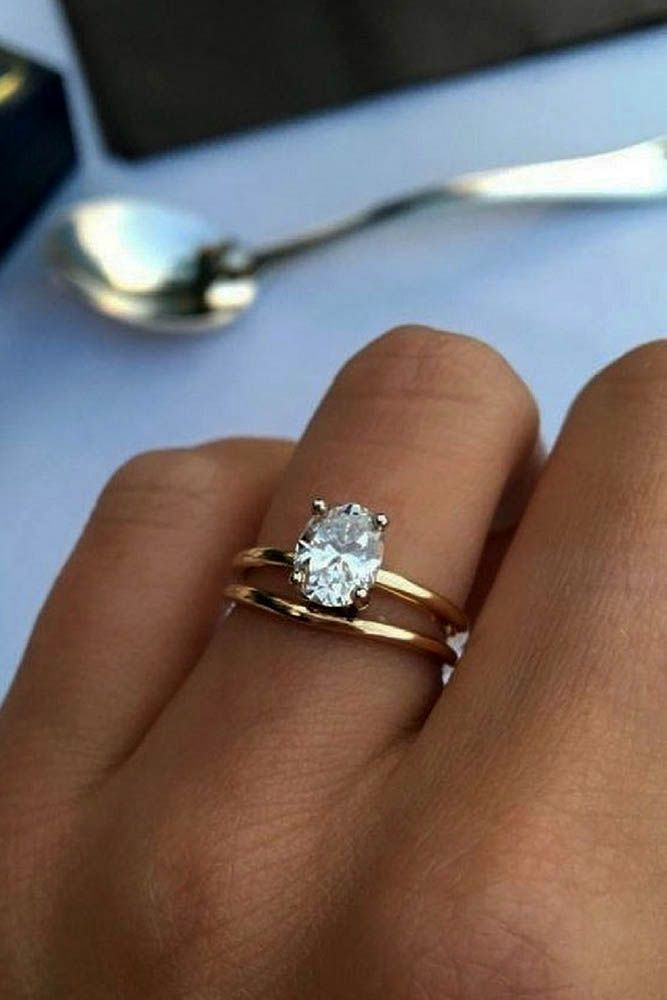27 Simple Engagement Rings For Girls Who Love Classic ❤️ simple engagement rings oval cut diamond rose gold solitaire ❤️ See more: http://www.weddingforward.com/simple-engagement-rings/ #wedding #bride #engagementrings #UniqueEngagementRings #solitairering