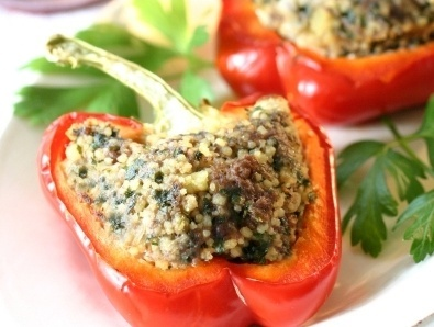 Couscous and Feta Stuffed Peppers | European Cuisine | Pinterest