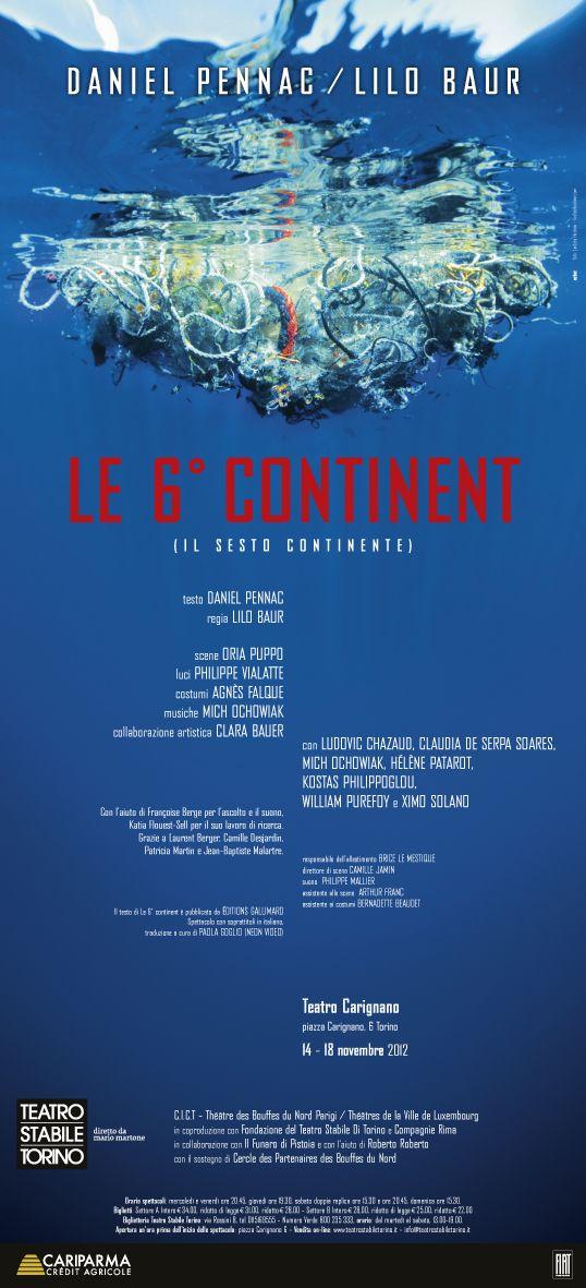 Le 6° continent ( il sesto #continente )| #testo Daniel #Pennac  #letteratura #reading #theatre #Torino #romanzi