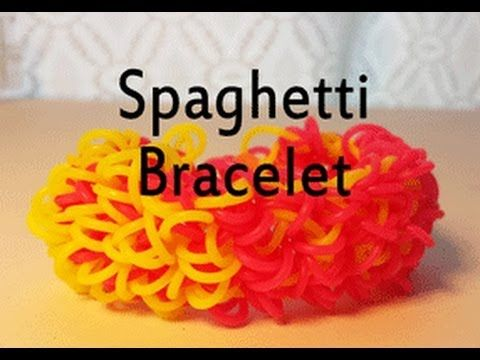 SPAGHETTI Bracelet on a Fork. Designed and loomed by Cheryl Mayberry. Click photo for YouTube tutorial. 05/31/14.