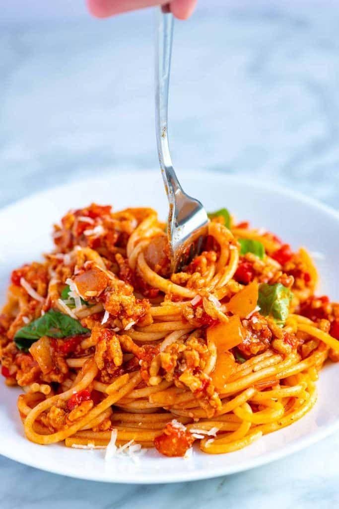 Easy Weeknight Spaghetti With Meat Sauce Recipe Spaghetti Meat