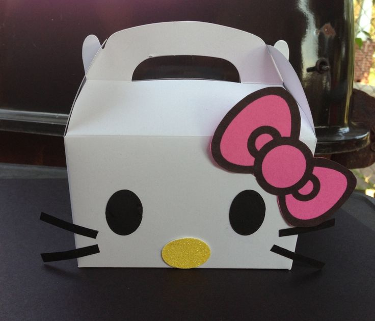 Hello kitty party favor box by ChikkisCreations on Etsy, $2.25