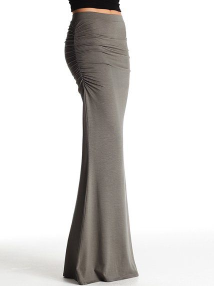 Ruched Maxi Skirt