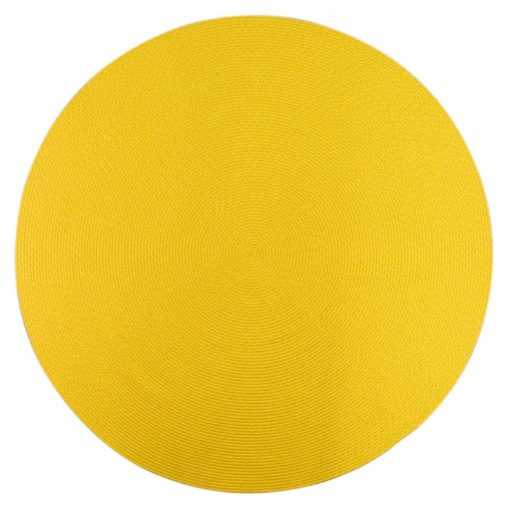 Indoor Outdoor Colorful Yellow Braided Rug 8 Round