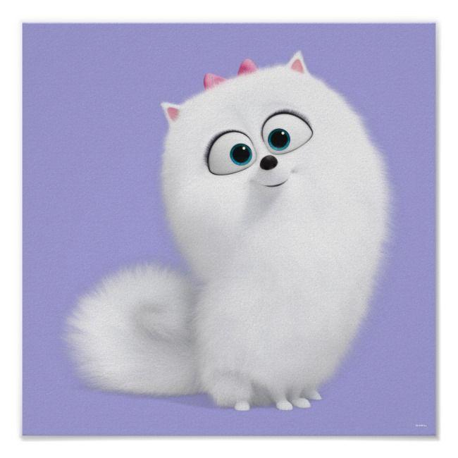 Secret Life Of Pets Gidget Poster Zazzle Com Secret Life Of Pets Pets Movie Cute Cartoon Wallpapers