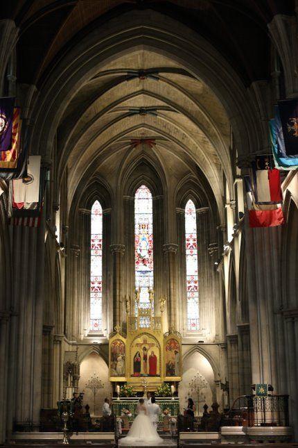 神聖な空気とパイプオルガンが響く荘厳なアメリカン・カテドラル教会。教会での結婚式おしゃれまとめ♡ウェディング・ブライダルの参考に♡